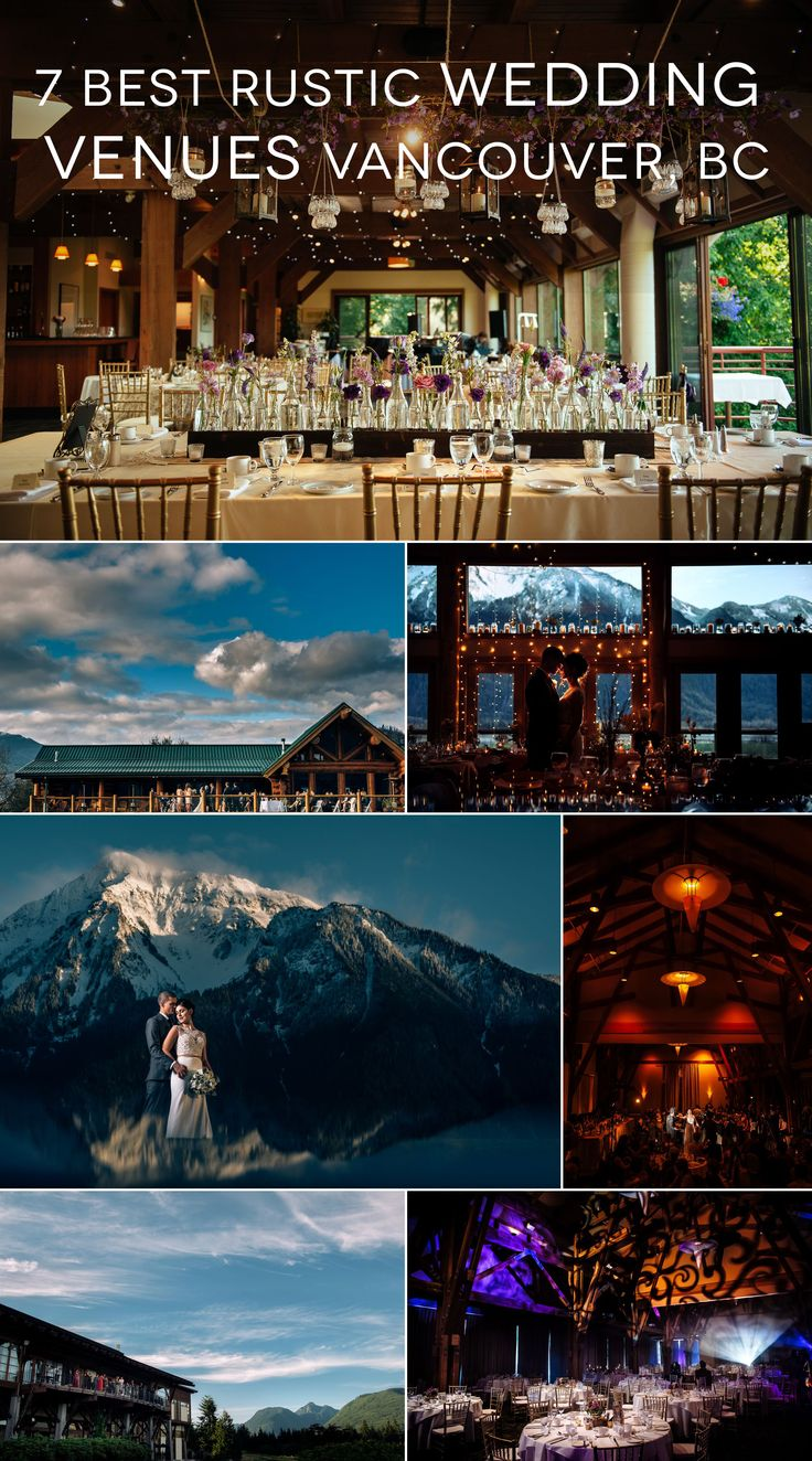 From mountain lodges to rustic barns, a list of the best rustic wedding venues around Vancouver BC, Canada