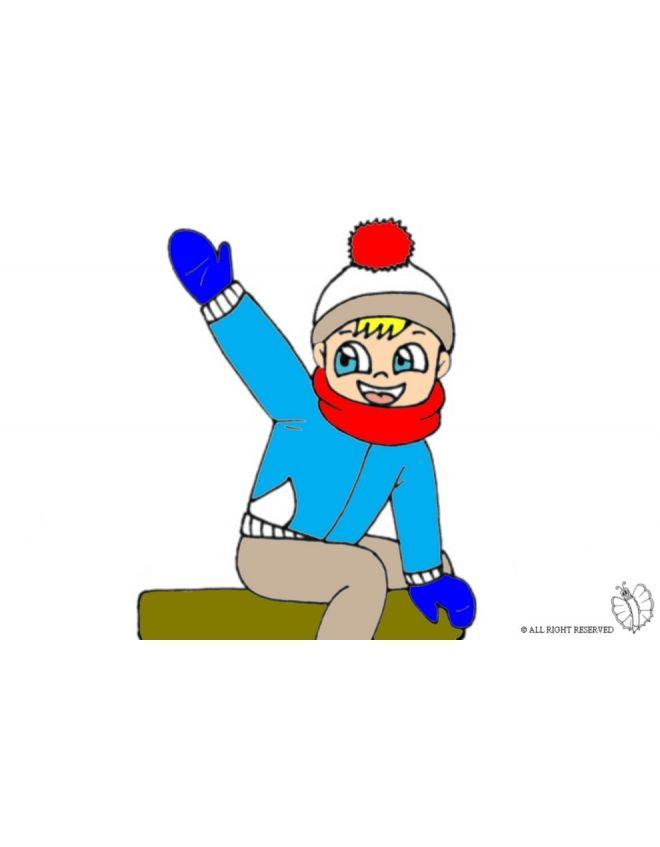 Disegno: Bambino che Saluta. Disegni colorati per bambini da stampare gratis. Puoi stampare, scaricare il disegno o guardare gli altri disegni simili a questo. disegnidacolorareonline.com.