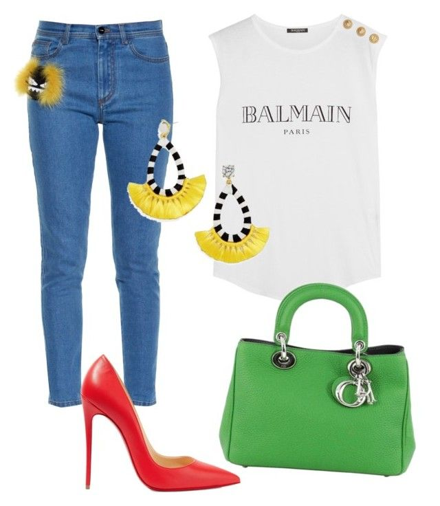 Без названия #4148 by pakalova on Polyvore featuring polyvore fashion style  Balmain Fendi Christian Louboutin