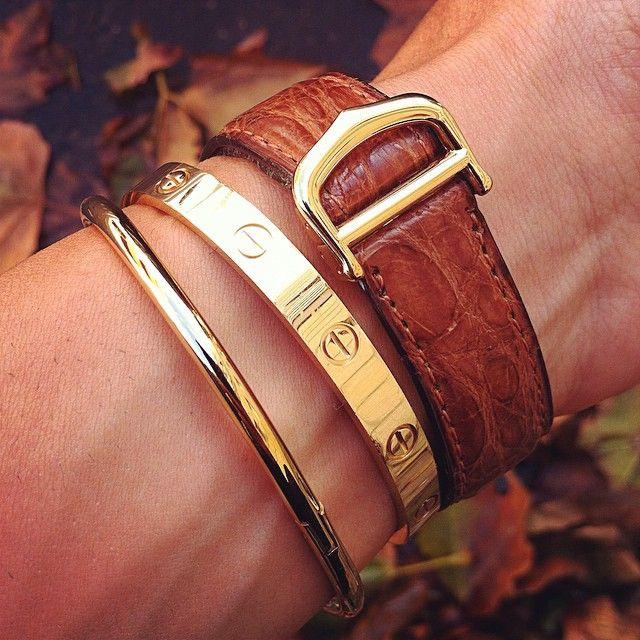 "BirkinBoy Details......Cartier vintage ""Must de Cartier"" gold watch with…"