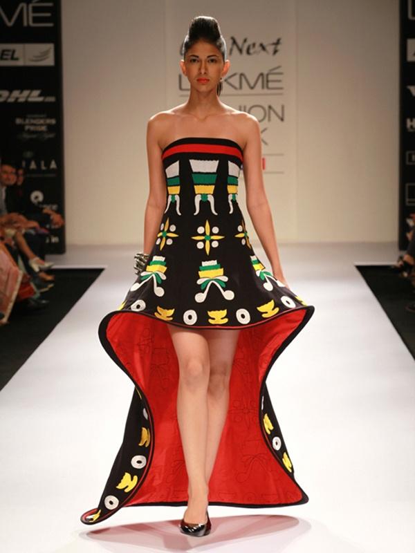 Asa Kazingmei at Lakmé Fashion Week Winter/Festive 2012 || Asian Woman Magazine