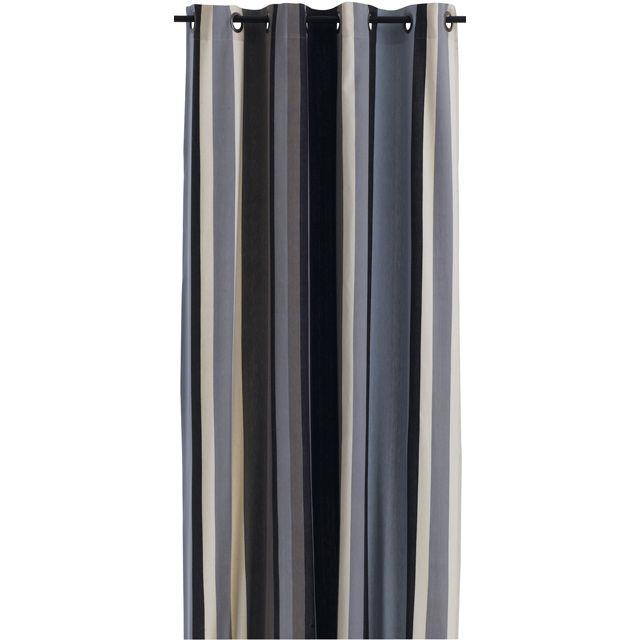 Rideau Rhodes 140x250 cm coloris rayé nordique - CASTORAMA