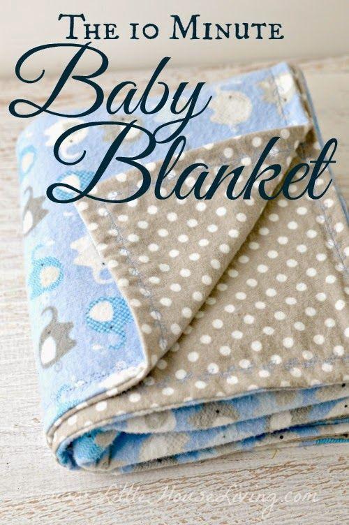 10 Minute Simple Baby Receiving Blanket Pattern