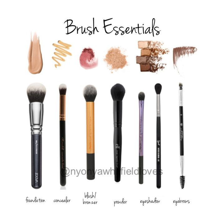 Makeup-brush-essentials. All you need for when you travel, great for beginner - money and space saver!