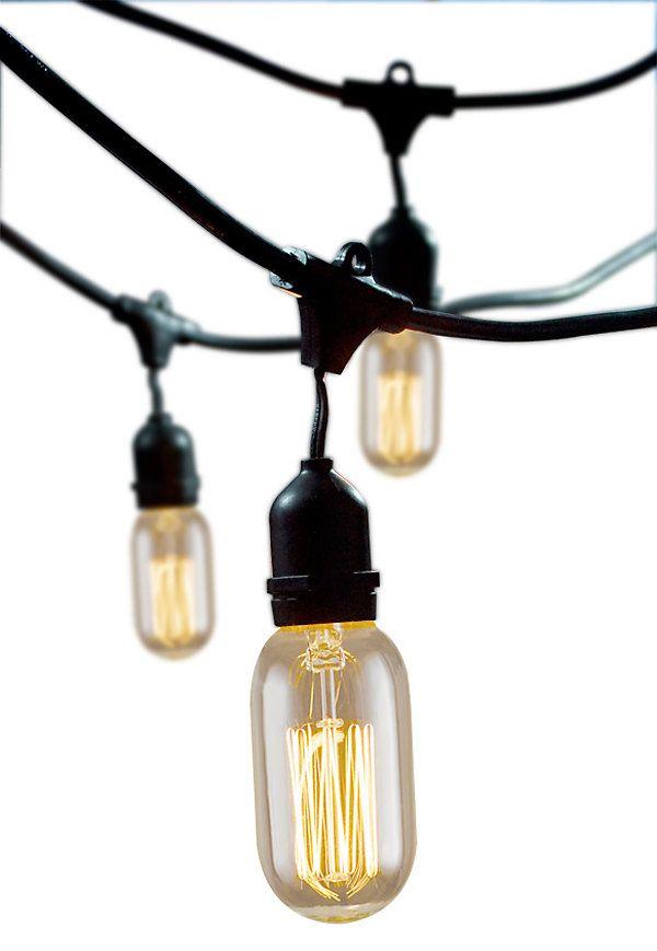 Outdoor String Lights Pinterest : Oval Outdoor String Lights Kit, Black Alfresco Glow One Kings Lane My stuff Pinterest ...
