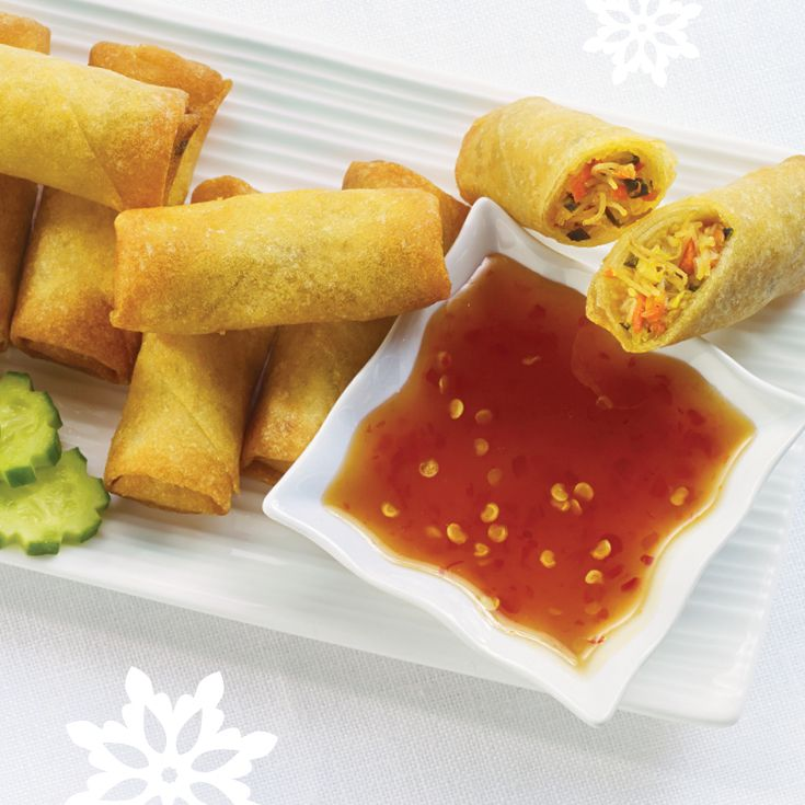 Pad Thai Spring Rolls. Why didn't we think of this before? #EasyEntertaining #MustTry
