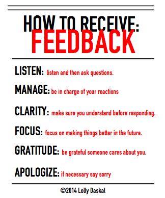 How to receive feedback? by @Lauren Davison Davison Jane Daskal #leadfromwithin