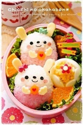 Round rabbit bento♡