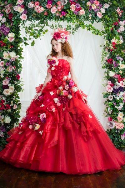 カラードレス レッド