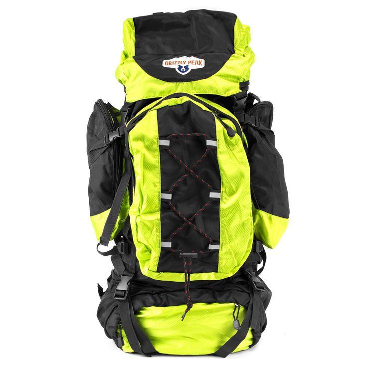 Grizzly Peak 70L Internal Frame Backpack Lightweight/Adjustable Hiking Trekking | eBay