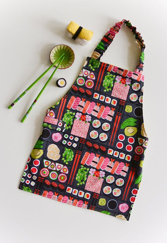 Child's Apron 3-5 years Sushi Apron Children's