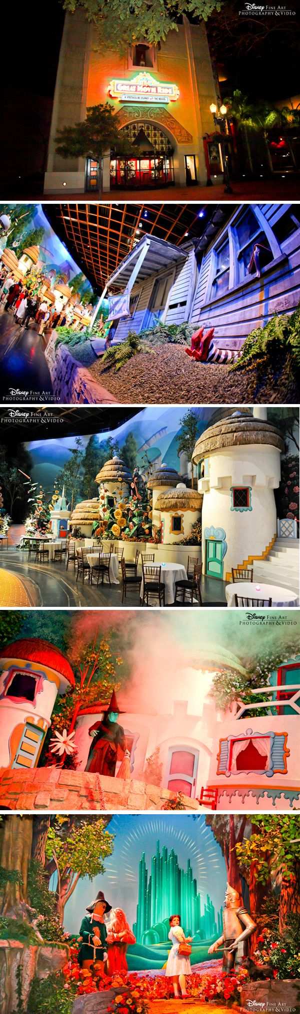 Guests are transformed into The Land of Oz in The Great Movie Ride at Disney's Hollywood Studios #reception #venue