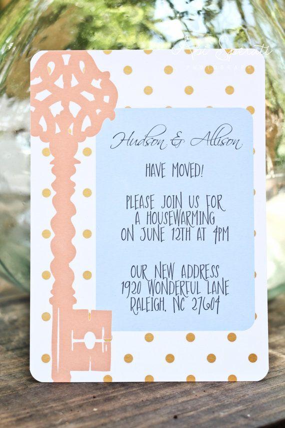 Housewarming Party Invitation  Keys & Polka by TigerLilyDesignsNC