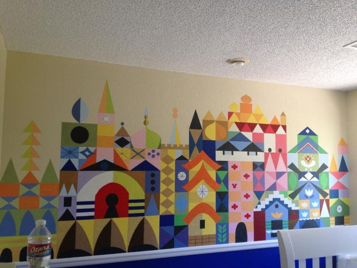 its a small world disney baby nursery wall art...LOVE THIS for a playroom idea