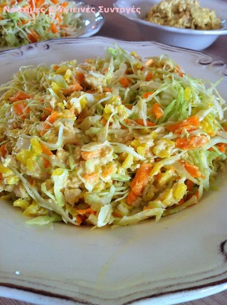 Νόστιμες κ Υγιεινές Συνταγές: Σαλάτα με καστανό ρύζι και χούμους φυτρωμένων ρεβυθιών