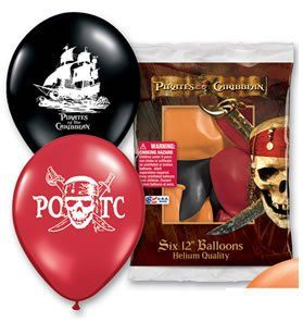 Pirates of the Caribbean Latex Balloons @ niftywarehouse.com #NiftyWarehouse #PiratesOfTheCarribbean #Pirates #Movies #Pirate