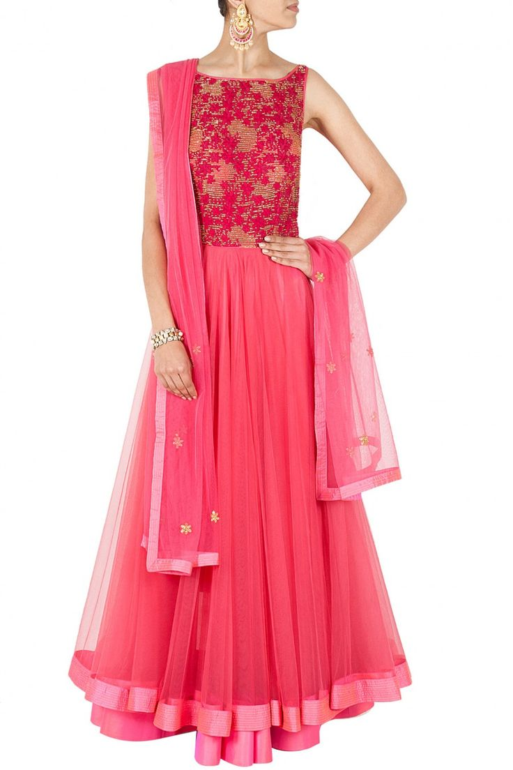 Pink bugle bead embroidered anarkali BY JADE. shop now at perniaspopupshop.com #perniaspopupshop #clothes #womensfashion #love #indiandesigner #jade #happyshopping #sexy #chic #fabulous #PerniasPopUpShop #ethnic #indian