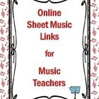 FREE Online Sheet Music Sites   This is a PDF file with FIVE pages of links to free sheet music PDF downloads.  Download and SAVE for quick referen...