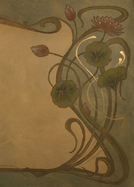 Art Nouveau panel detail