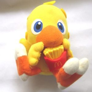 Rare FINAL FANTASY Japan Macdonald's Chocobo Plush Stuffed Doll From Japan