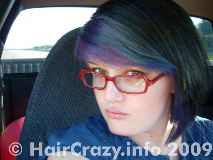 kitteh -   - Manic Panic After Midnight Blue   - Manic Panic Purple Haze