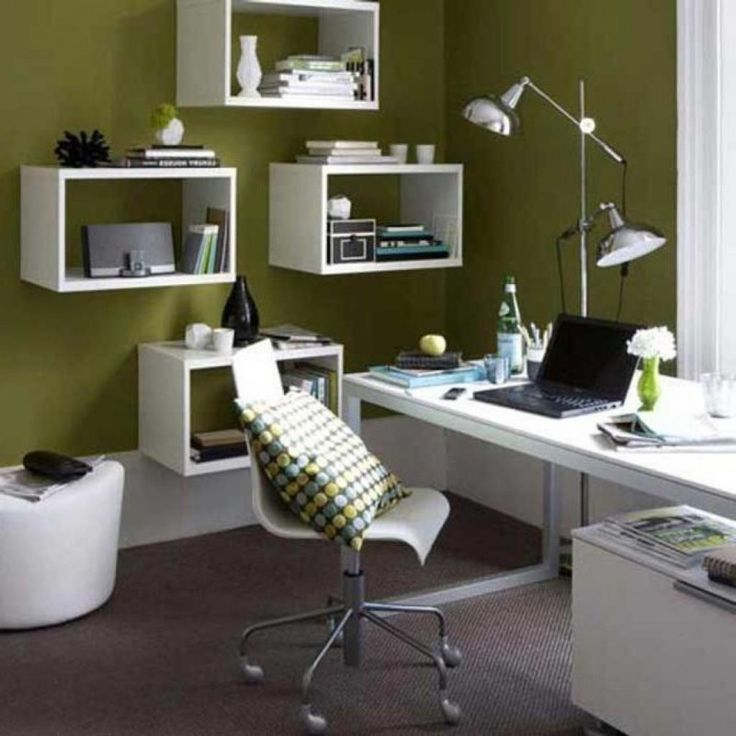 Large Elegance Home Ofice Design Ideas With White Shelved And White Ofice Table And Elegance Ofice Chair Design Make Some Advantages from Small Office Space Ideas Interior Design