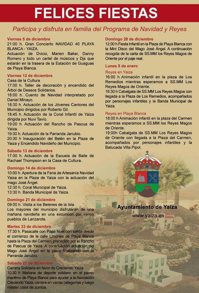 En el programa de Navidad del municipio de Yaiza en #Lanzarote, cuentan con varios actos solidarios