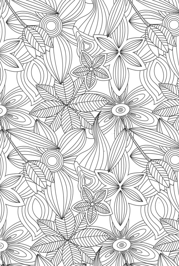 Disney zentangle coloring pages - Flower Abstract Doodle Zentangle Coloring Pages Colouring Adult Detailed Advanced Printable Kleuren Voor Volwassenen Coloriage Pour