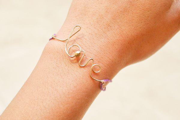 DIY love bracelet w/ jewelry wire-make into necklace instead?