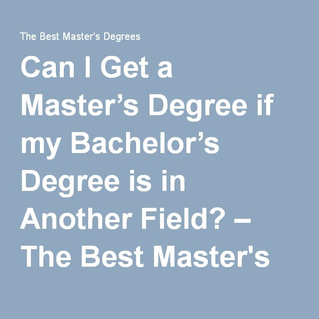 what masters degree can i get