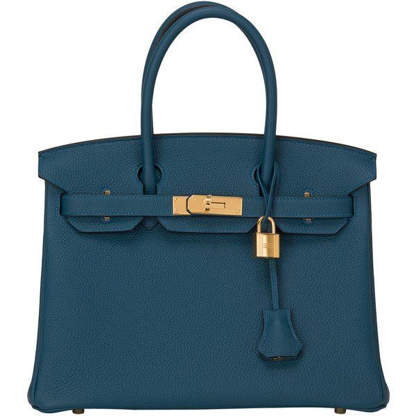 Hermes 35cm Blue Ocean Togo Birkin Bag with Gold Hardware