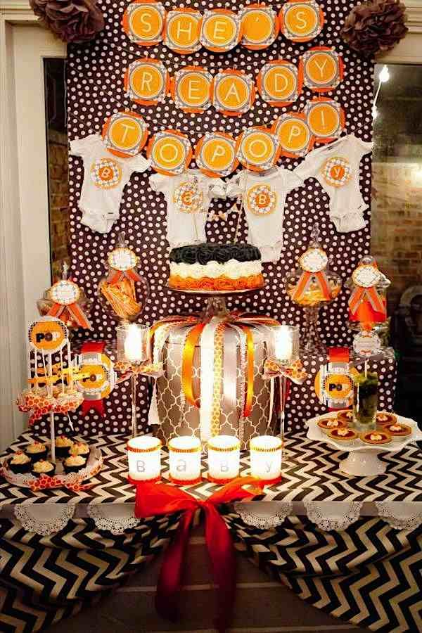 Kara's Party Ideas Ready to Pop Couples Boy Girl Fall Baby Shower Planning Ideas
