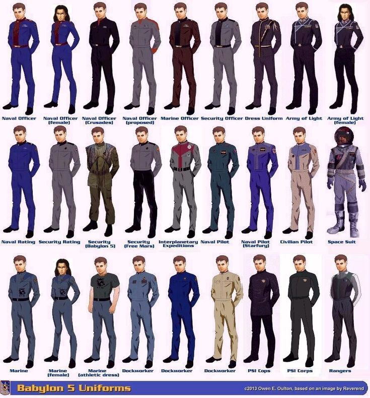 Babylon 5 uniforms