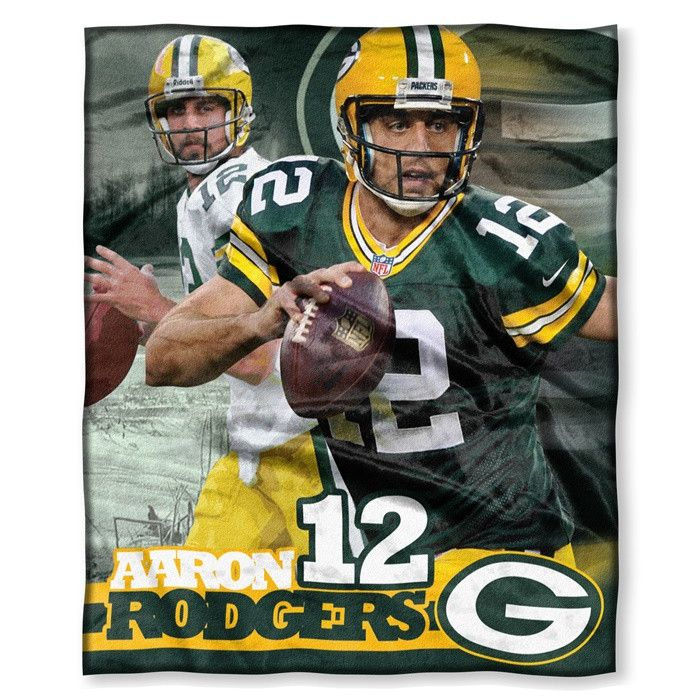 Green Packers Aaron Rodgers NFL Players HD Silk Touch Throw. 50 x 60.  Visit SportsFansPlus.com for Details.