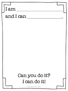 FREE We Can Do It! class book based on Eric Carle's From Head to Toe