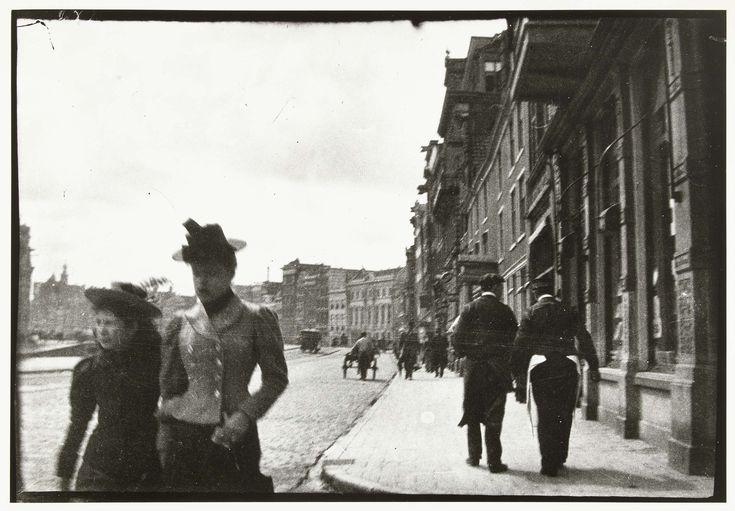 Straatgezicht van het Rokin in Amsterdam, George Hendrik Breitner, ca. 1890 - ca. 1910