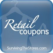 The TOP Retail Coupons available to print and use this weekend from the Surviving The Stores Retail Coupons Database!!