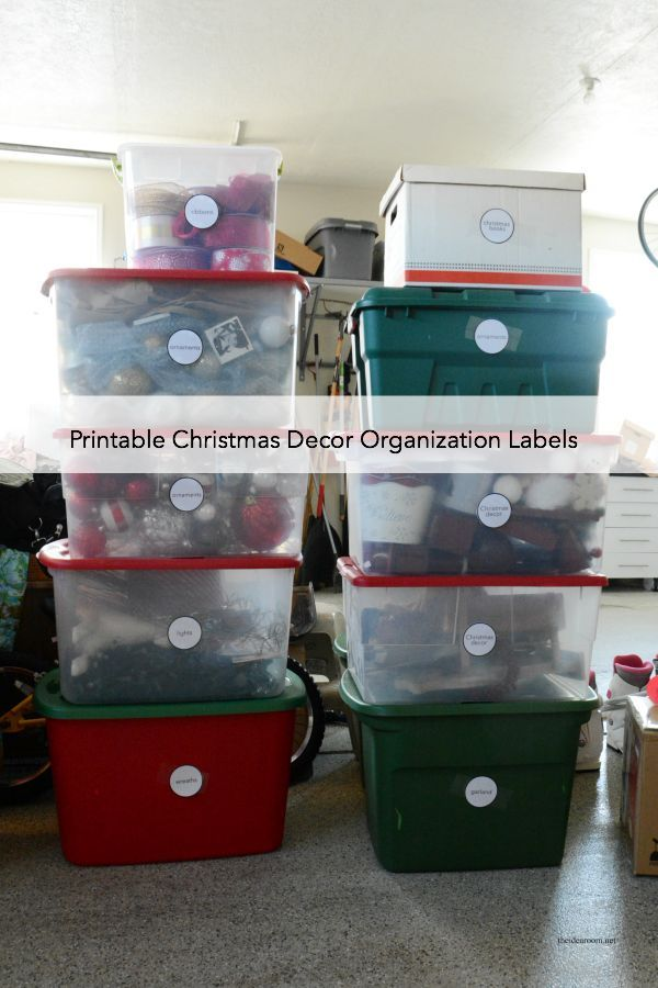 Christmas Decor Organization Labels - The Idea Room