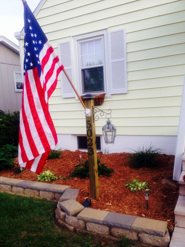Memorial Day Project Address Display Post 4x4 Deck Post