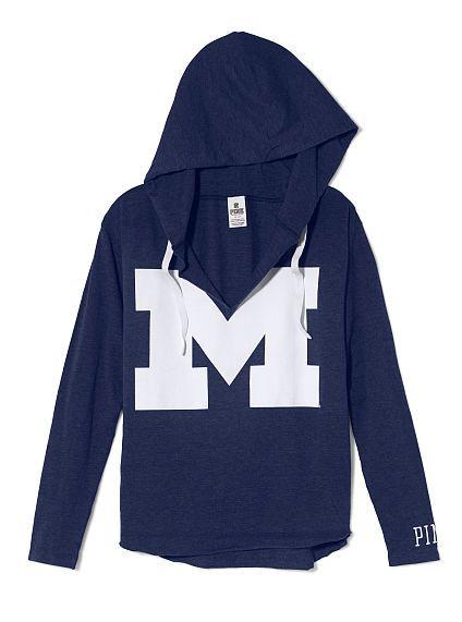 University of Michigan Vintage Tunic Hoodie |
