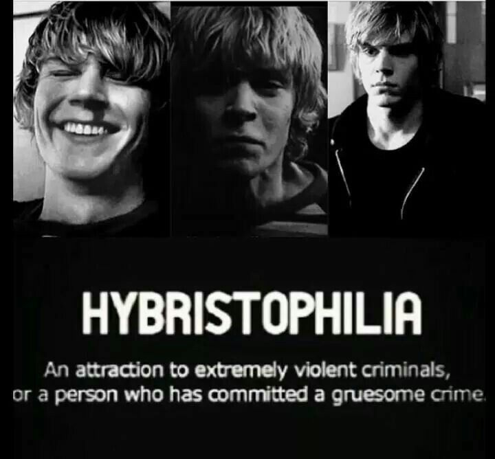 I really feel as though I have this, and it's not just because of tate  I genuinely find people who have committed a crime are more interesting and real.