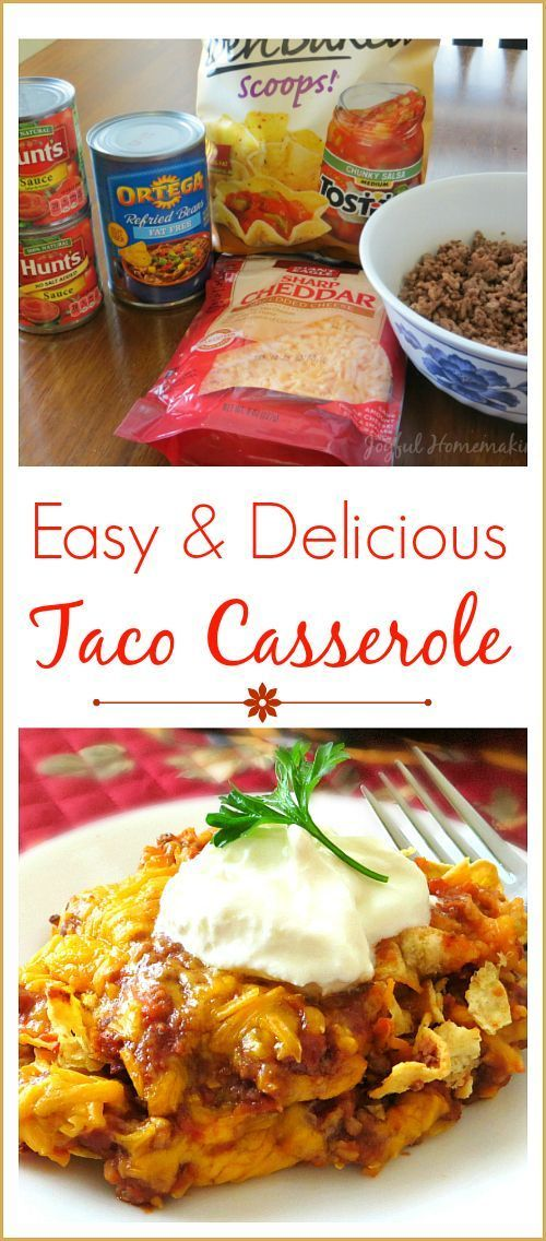 Taco Casserole is so easy and delicious, with only a handful of ingredients!