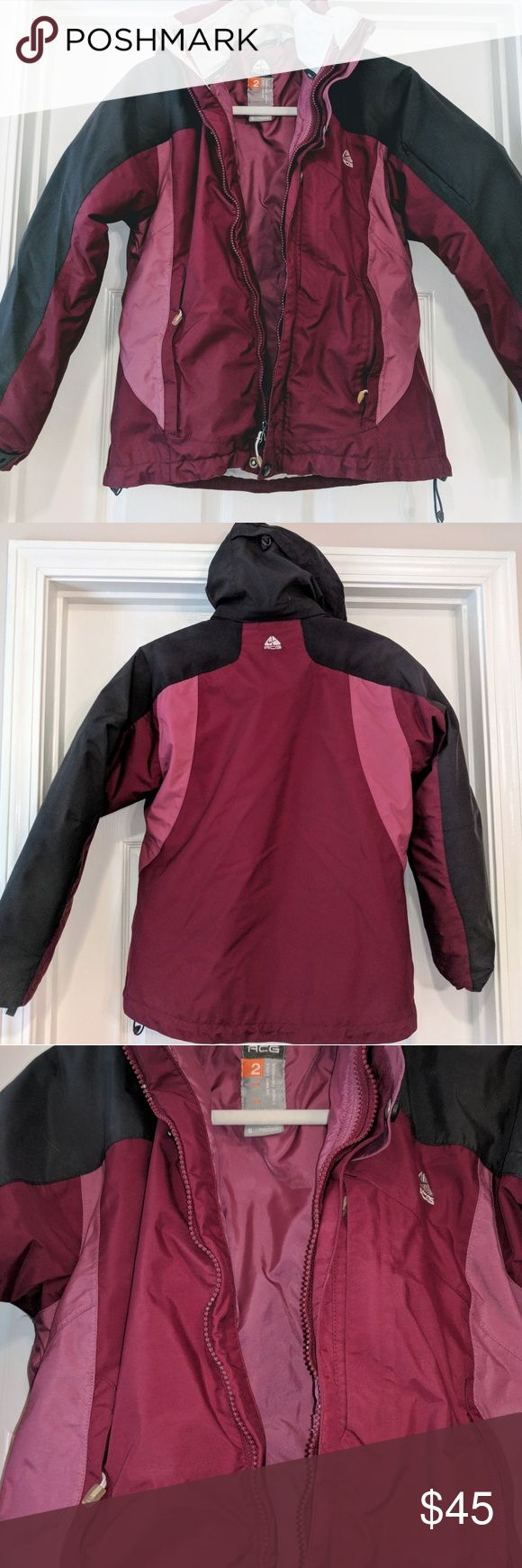 NIKE ACG 2 IN 1 JACKET LIKE NEW, WORN A FEW TIMES. CLEAN AND FROM A SMOKE FREE HOME. JACKET HAS ZIP OUT LINER THST CAN ALSO BE USED AS A JACKET. COAT HAS LOTS OF POCKETS, INCLUDING ON THE SLEEVE ( SEE PHOTOS). SO WARM! Nike ACG Jackets & Coats