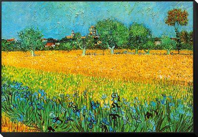 Udsigt over Arles med iriser Plakater af Vincent van Gogh på AllPosters.dk