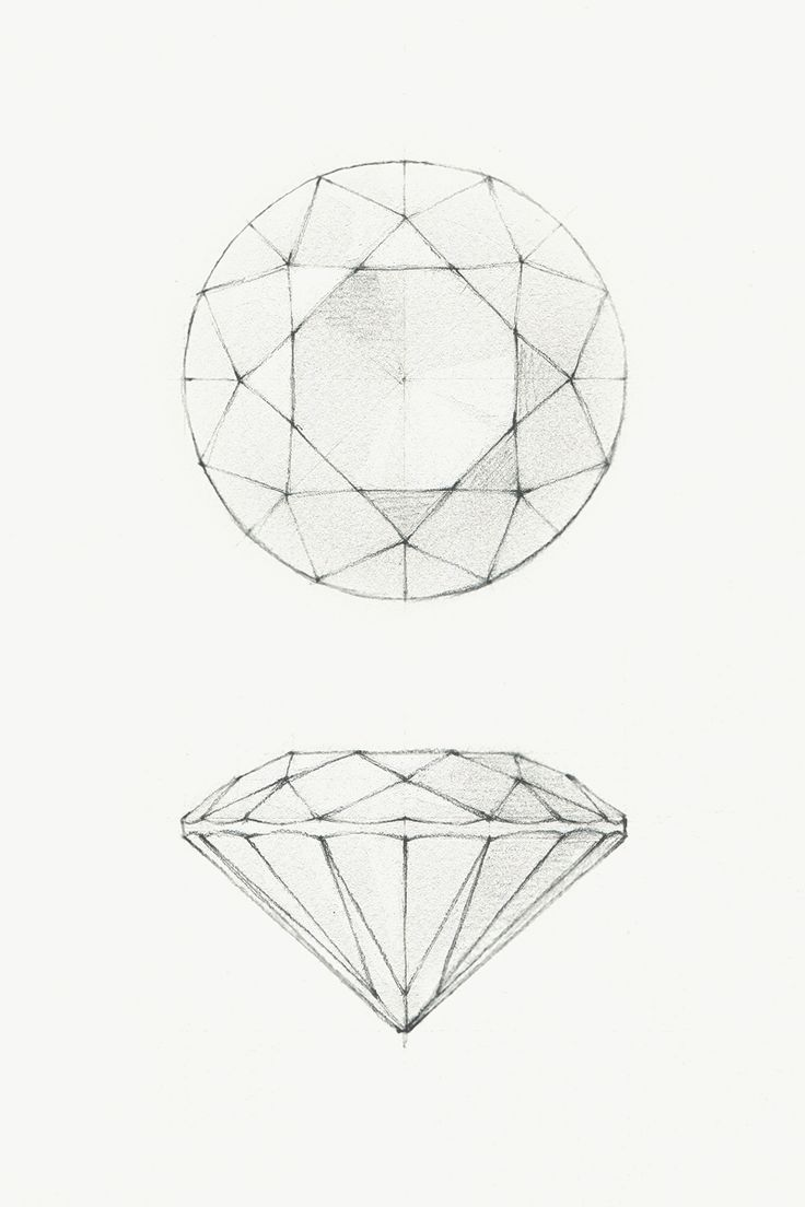 diamond pencil sketch - photo #22