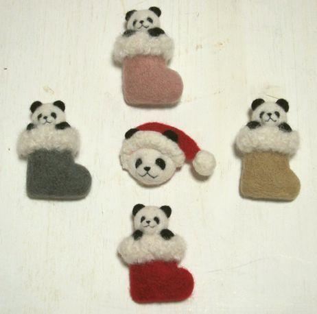 パンダのブローチと新作ミニ3D額絵 |羊毛フェルト作家Makikoの癒しパンダ|Ameba (アメーバ)