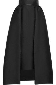 Merchant Archive Pleated satin midi skirt | NET-A-PORTER