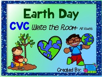This Earth Day themed write the room activity is perfect for getting kids up and moving, while working on spelling their CVC words!Included in this resource are 12 full color picture cards and two differentiated recording sheets. One recording sheet asks students to spell the CVC word.