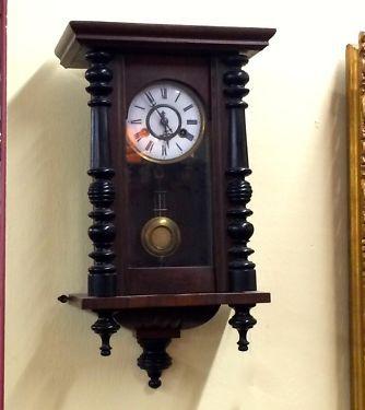 "German Wall Clock   20"" Tall x 11.5"" Wide   Good Working Condition   $425  Butler Creek Antiques Dealer #8804  Lucas Street Antiques 2023 Lucas Dr. Dallas, TX 75219  Like us on Facebook"