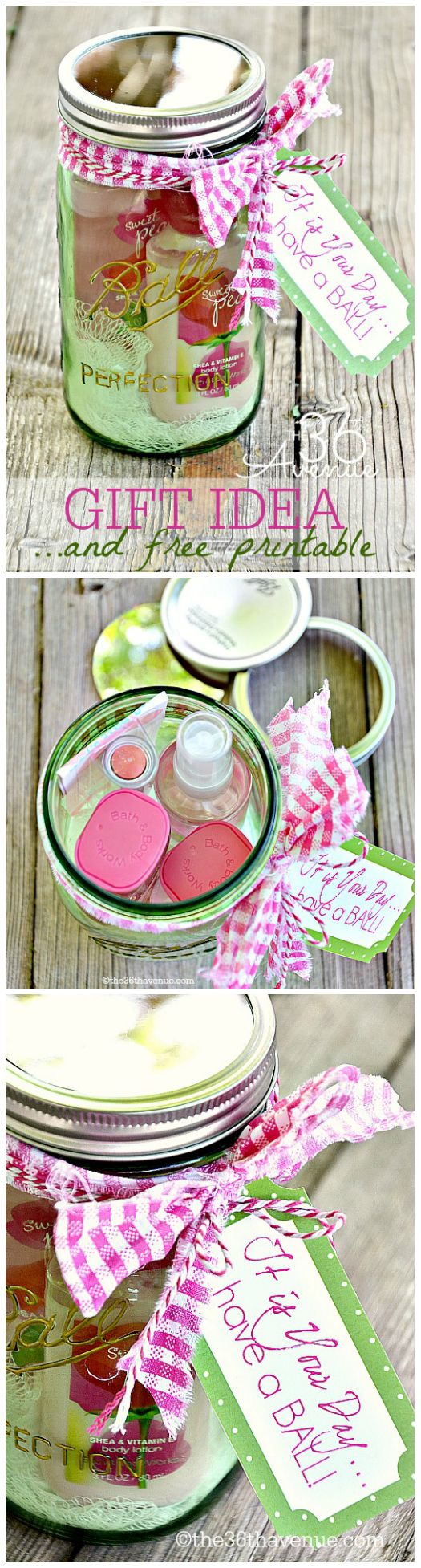 Adorable Gift Idea in a Jar and Free Printable! Perfect for Mother's Day! #yearofcelebrations